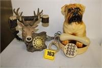 2 Phones- Dog & deer