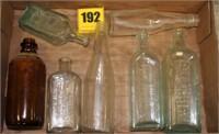box of misc. bottles
