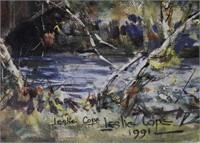Leslie Cope covered bridge print 12 x 16