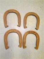 4 old metal Horse Shoes Plaything