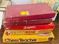 Vintage 3 Scrabble & 2 other board games  Lot