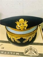Military  Major Green dress Hat Vietnam era 1970s