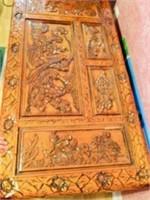 Vintage Carved Ornate Oriental Motif Teak Trunk