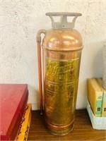Rare Brass & Copper fire extinguisher Pyrene Soda