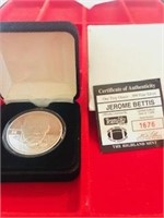 1993 One Ounce .999 Silver Token NFL Jerome Bettis