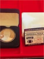 NFL Marshall Faulk One Ounce .999 Silver Token
