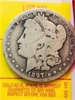 1897 New Orleans Antique Morgan Silver Dollar