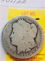 1896 New Orleans Antique Morgan Silver Dollar