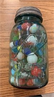 Vintage Jar of Marbles