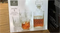 Gibson Jewelite 5pc Glass Decanter Set