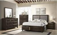 King - Brenta 5 pc Storage Bedroom Suite