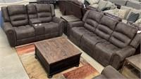 PRI Pulaski DBL REC Sofa & Gliding Love Seat