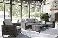 Ashley P334 Cloverbrook 4 pc Outdoor Living Set