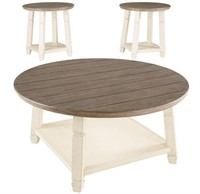 Ashley T377 Round Farmhouse Coffee & End Tables