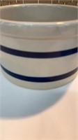 (2) Blue Striped Pottery Roseville, Ohio