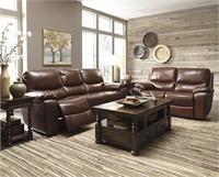 Ashley u729 Leather DBL REC Sofa & Love Seat