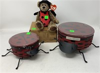 2009 Collectors Club Lady Bug Basket With Stand,