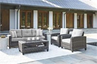 Ashley P334 Cloverbrook 4 pc Outdoor Living Set