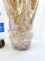 Hand Blown Clamshell Glass Vase