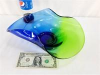 Blue Green Centerpiece Bowl