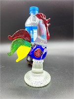 Hand Blown Roosters