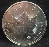 2019 5 Dollar Maple Leaf Canadian Silver Coin