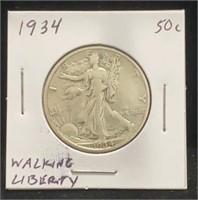 1934 Walking Liberty 50c
