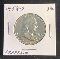 1958-D Franklin Half Dollar Coin