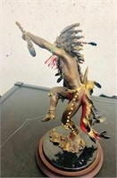 Native American Bronze Statue Spirit  Thunderbird