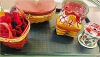 4 Seasonal sm Longaberger basket lot made in USA