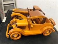 Pr. Vintage Wooden Car lot