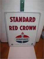 1948 Standard Red Crown Porcelain Enamel Sign