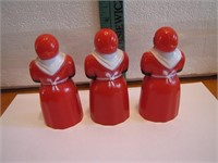 3 Vtg F&F Aunt Jemima Spice Shakers 4""