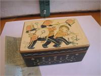 "1970 Anri Music Box (Works)   4&3/8"" x 3"" x 2"""