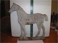 Antique Original Short Tail Horse Cast Iron Wind-