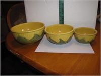 Vtg Shawnee Mixing Bowls  #8 -#6 & #5