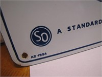 1948 Standard White Crown Porcelain Enamel Sign