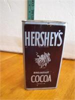Vtg Hershey's Breakfast Cocoa 1 lb Tin Near Full