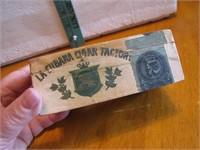 Antique Spana Cuba 1901 Cigar Box 5x3x1&7/8
