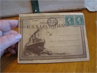 Antique 1919 The USS Leviathan Being Welcomed Home
