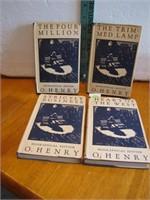 Set of 4 Antique 1931 O.Henry Biographical Edition