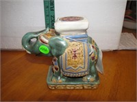 Vtg Pottery Elephant Signed (can't make out name)