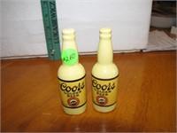 """Vintage Coors Golden Beer S & P Shakers 4"""""""