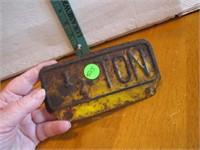 Vintage 1/2 Ton License Plate