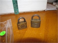 2 Vintage Brass Padlocks Superb & Eagle