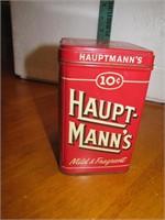 Vintage Hauptmann's 10cent Cigar Tin