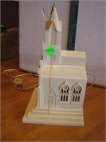 Vtg Lighted Church Raylite Electric Corp 9&3/4""