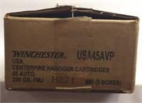 Winchester .45 Auto Ammunition 500 Rds