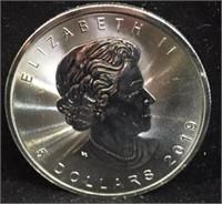 2019 5 Dollar Maple Leaf Canadian Silver Coin