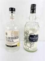 Kraken & Rebel Yell Bottles